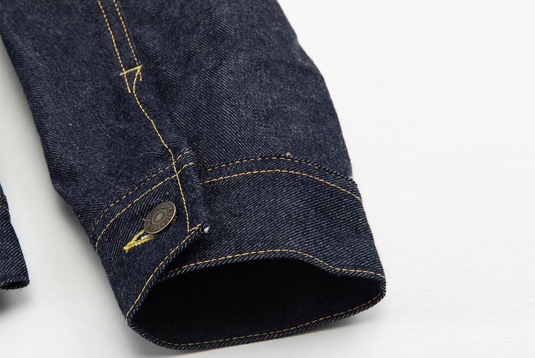 The-Real-McCoy's-Lot-002LJ-Denim-Jacket-sleeve