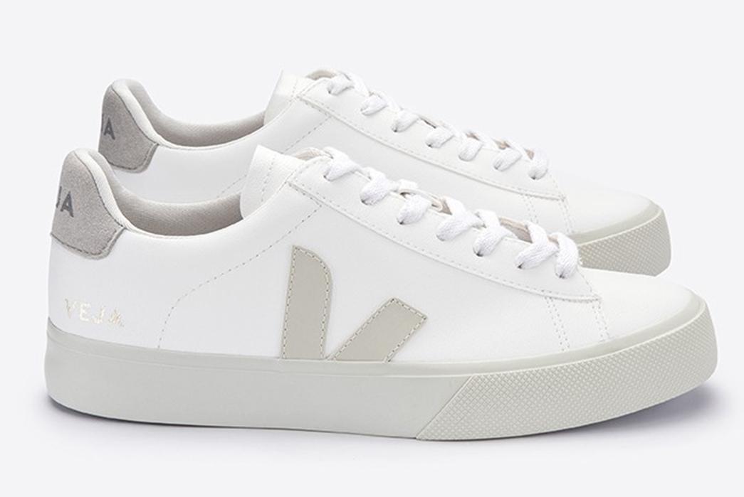 Veja-Serves-Up-Vegan-Campo-Sneakers-pair-side-grey-white