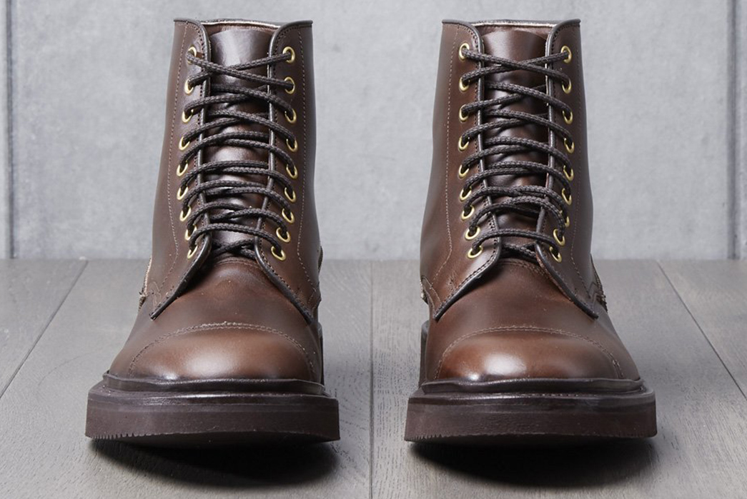 Wedge-Into-a-Pair-of-Division-Road-x-Tricker's-Churchill-Boots-pair-front