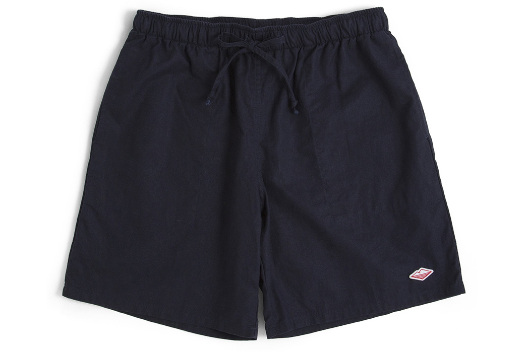 Battenwear-SS19-front-short-pants-blue