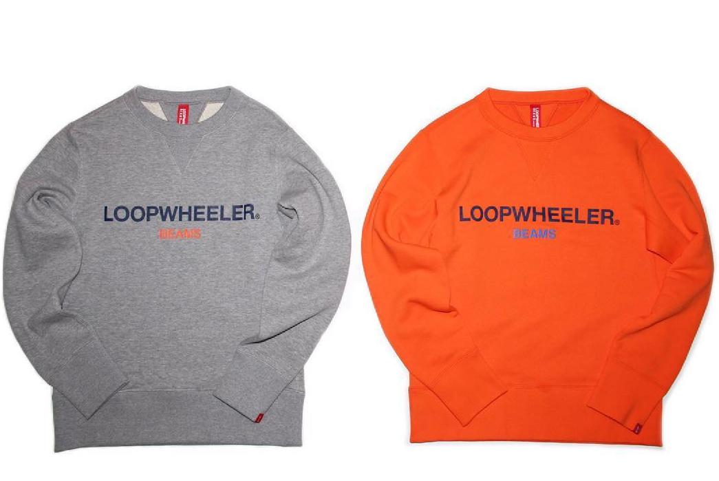 Beams-Japan-x-Loopwheeler-grey-and-orange