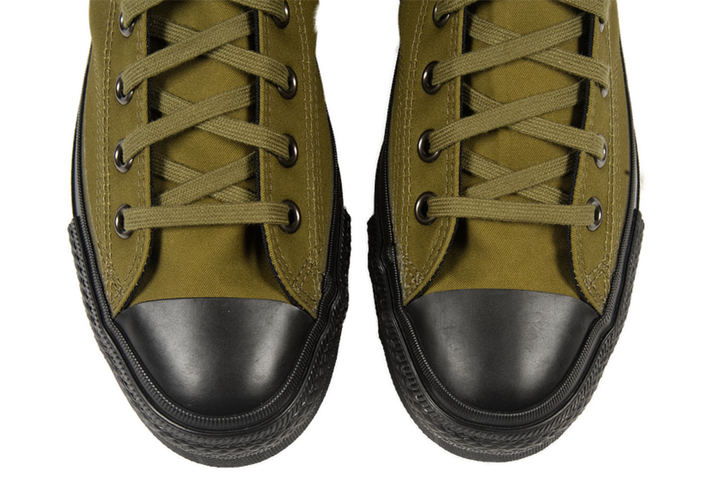 Buzz-Rickson's-Updates-Their-Repro-Sneakers-for-Rain-Ready-Dunking-green-pair-front-detailed