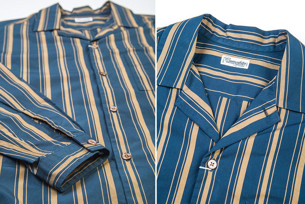 Camoshita-Shirt-Jackets-green-gold-front-detailed
