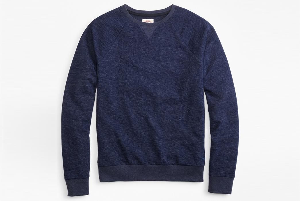 Deep-Indigo-Sweatshirts---Five-Plus-One 1) Brooks Brothers Red Fleece: Indigo French Terry Crew