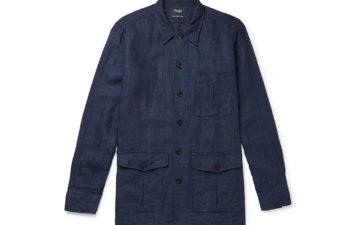 Drake's-Washed-Linen-Overshirt-front