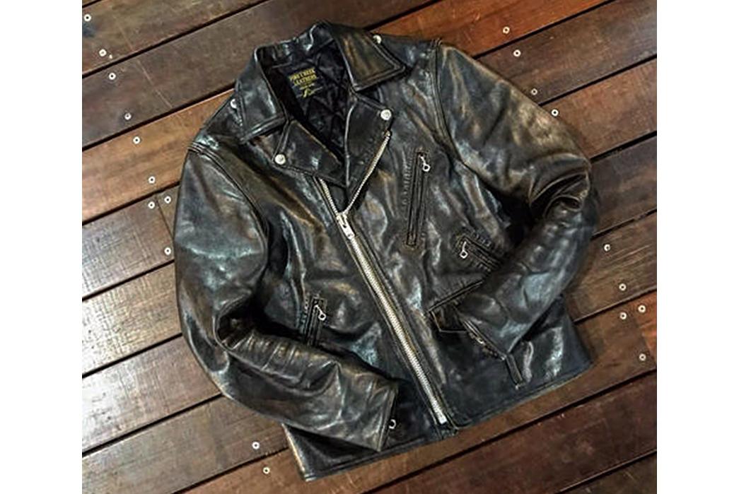 Leather-Jackets-Beyond-the-Schott-Perfecto-Fine-Creek-Leathers-Leon-Custom-with-plenty-of-wear.-Image-via-California-Harvest.