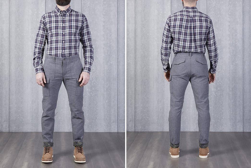 Nine-Lives-and-Division-Road-Bond-Over-Cargo-Pants-model-front-back