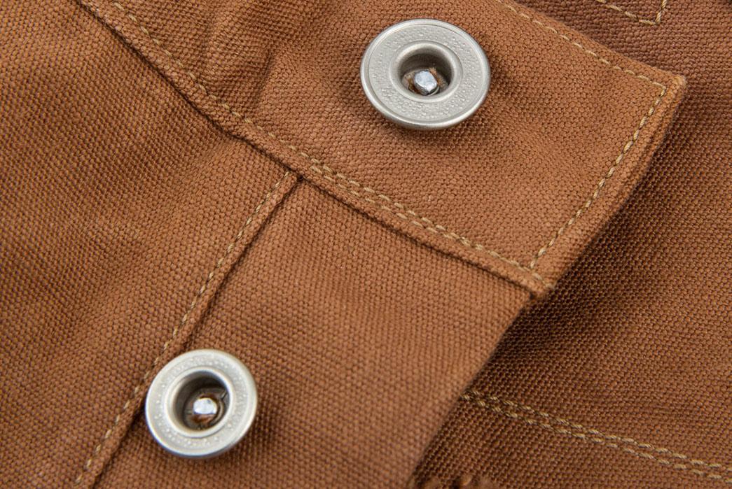 Ooe-Yofukuten-18700s-Tailor-Made-Waist-Overalls-front-top-buttons