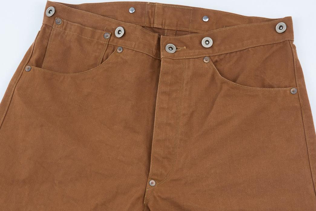 Ooe-Yofukuten-18700s-Tailor-Made-Waist-Overalls-front-top