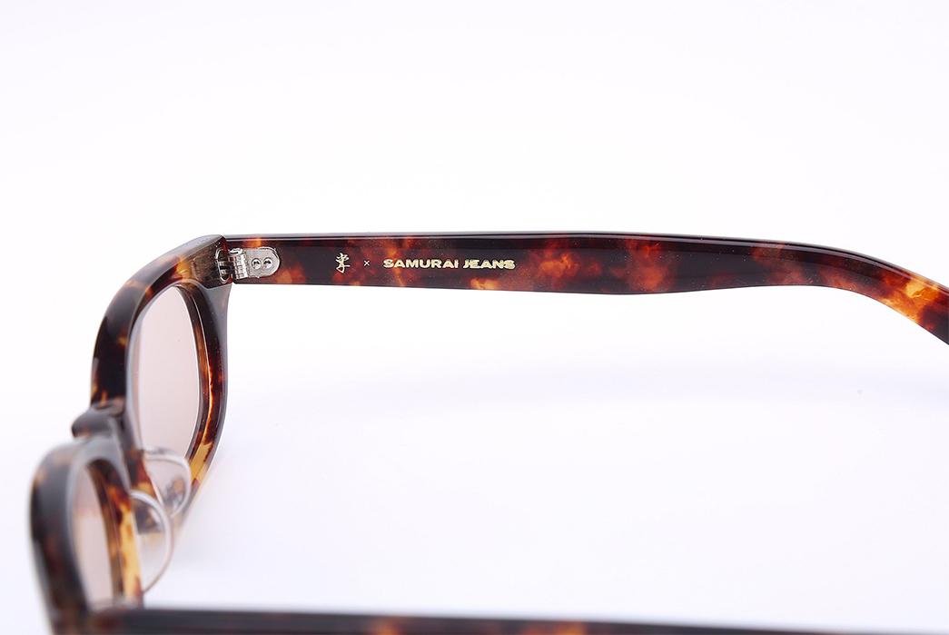 Samurai-'Boss'-Celluloid-Glasses-brown-yellow-inside