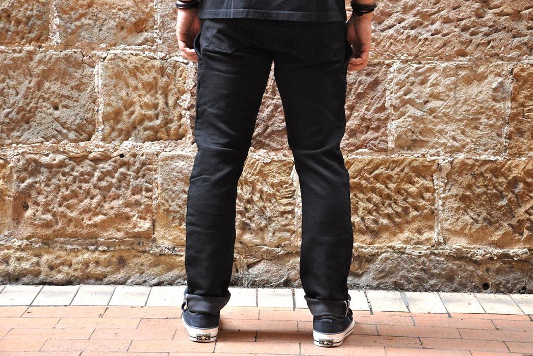 Stevenson-Overall-Messenger-Selvedge-Sweatpants-model-back