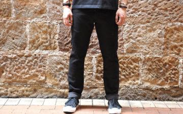 Stevenson-Overall-Messenger-Selvedge-Sweatpants-model-front