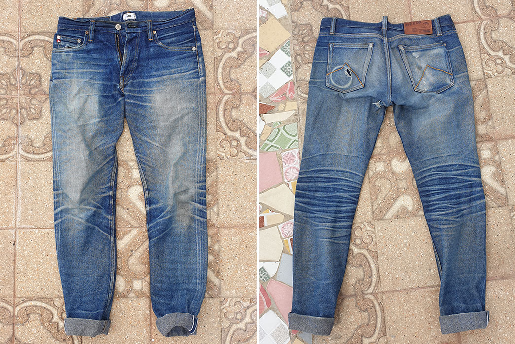Fade-of-the-Day---Aye-Denim-Reptoids-14-oz.-(2-Year,-Unknown-Washes-&-Soaks)-front-back