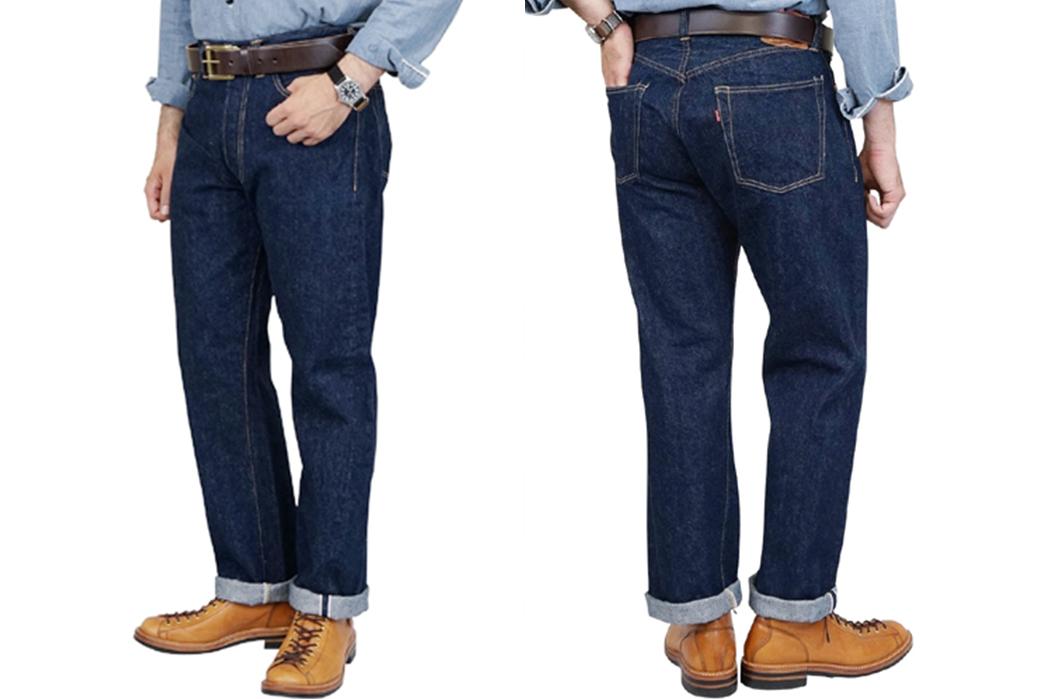 Freewheelers-601XX-1947-Raw-Denim-Jeans-front-back