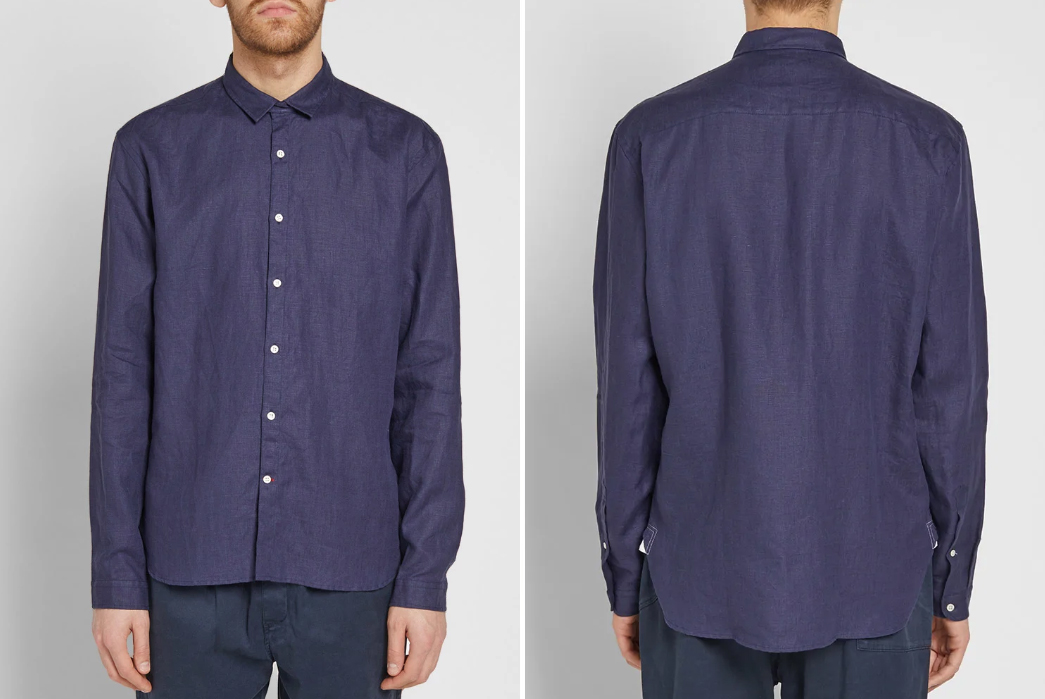 Long-Sleeve-Linen-Shirts---Five-Plus-One-4)-Oliver-Spencer-Clerkenwell-Linen-Shirt