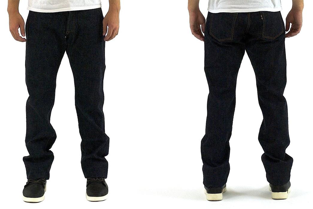 Momotaro-Vintage-Label-0201-Raw-Denim-Jeans-front-back