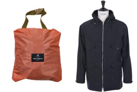 Nigel-Cabourn-Packs-Away-Their-Iconic-Cameraman-Jacket-red-bag-and-dark-blue-jacket