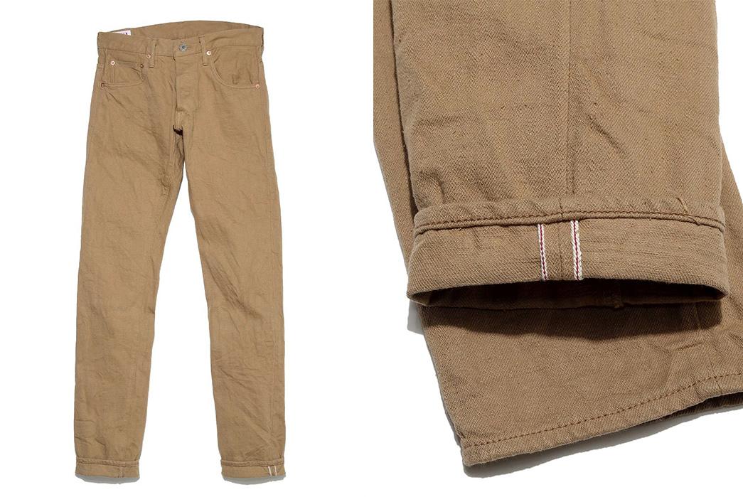 Oni's Latest Selvedge Jeans are Selvedge Khakis