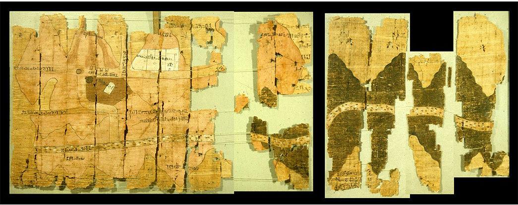 Precious-Metals---Gold-The-Turin-Papyrus-Map.-Image-via-the-Turin-Museum.