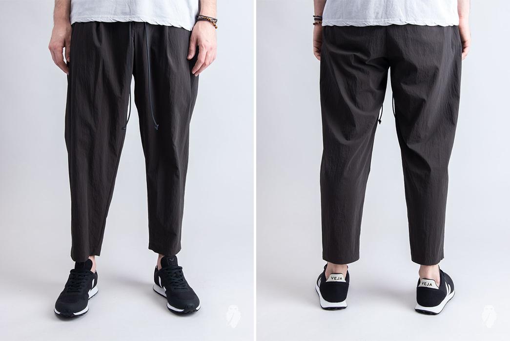 Relaxed,-Drawstring-Pants---Five-Plus-One-2)-Kazuki-Kumagai-Attachment-Nylon-Sarouel-Pants