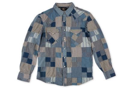 RRL-Patchwork-Western-Shirt-front