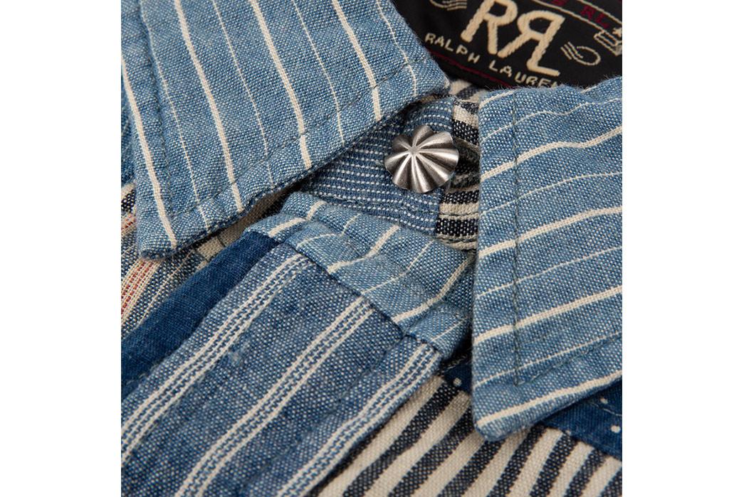 RRL-Patchwork-Western-Shirt-front-collar-detailed