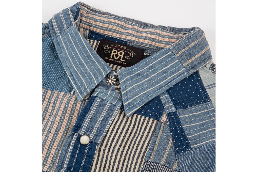 RRL-Patchwork-Western-Shirt-front-collar