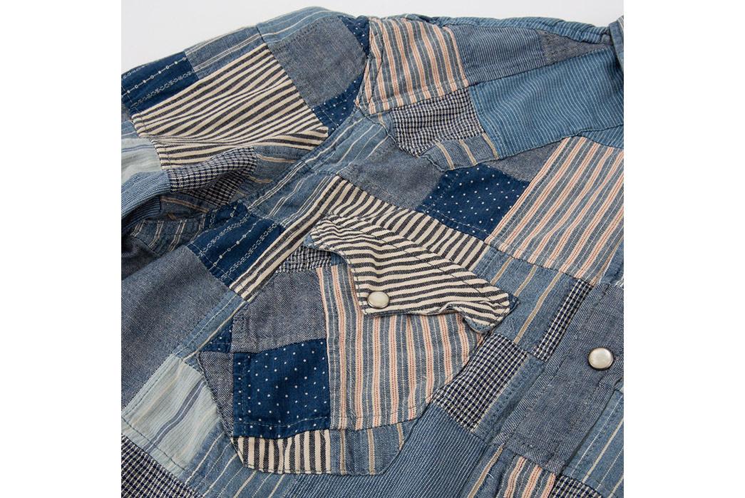 RRL-Patchwork-Western-Shirt-front-pocket