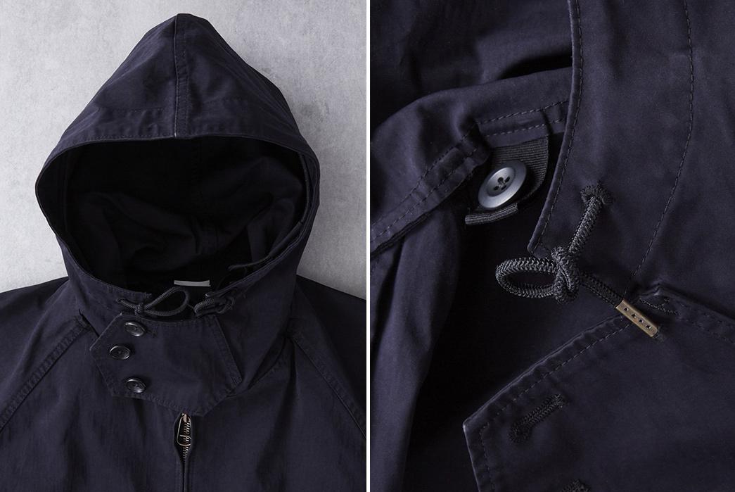 Ten-C-OJJ-Anorak-Jacket-front-hood-and-button