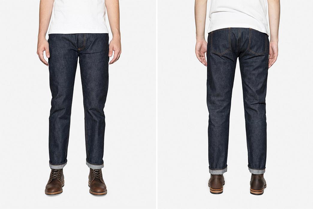 3sixteen-CT-100xk-Raw-Denim-Jeans-model-front-back