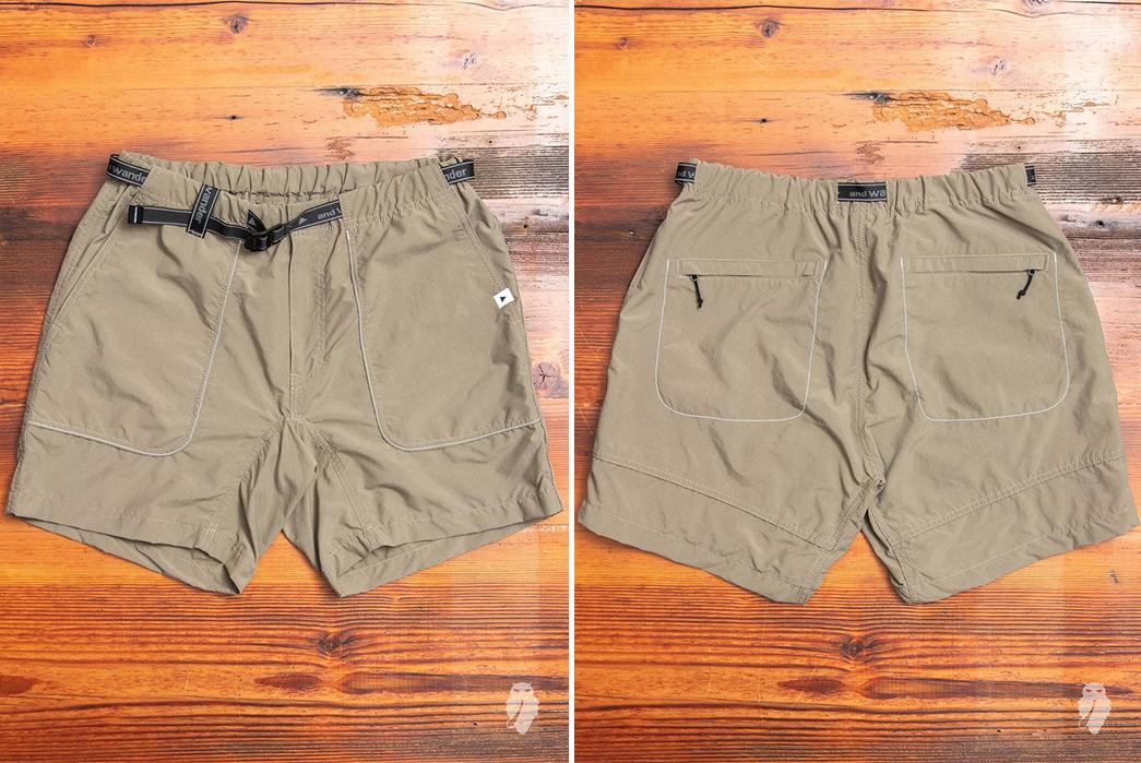 And-Wander-Climbing-Shorts-brown-front-back