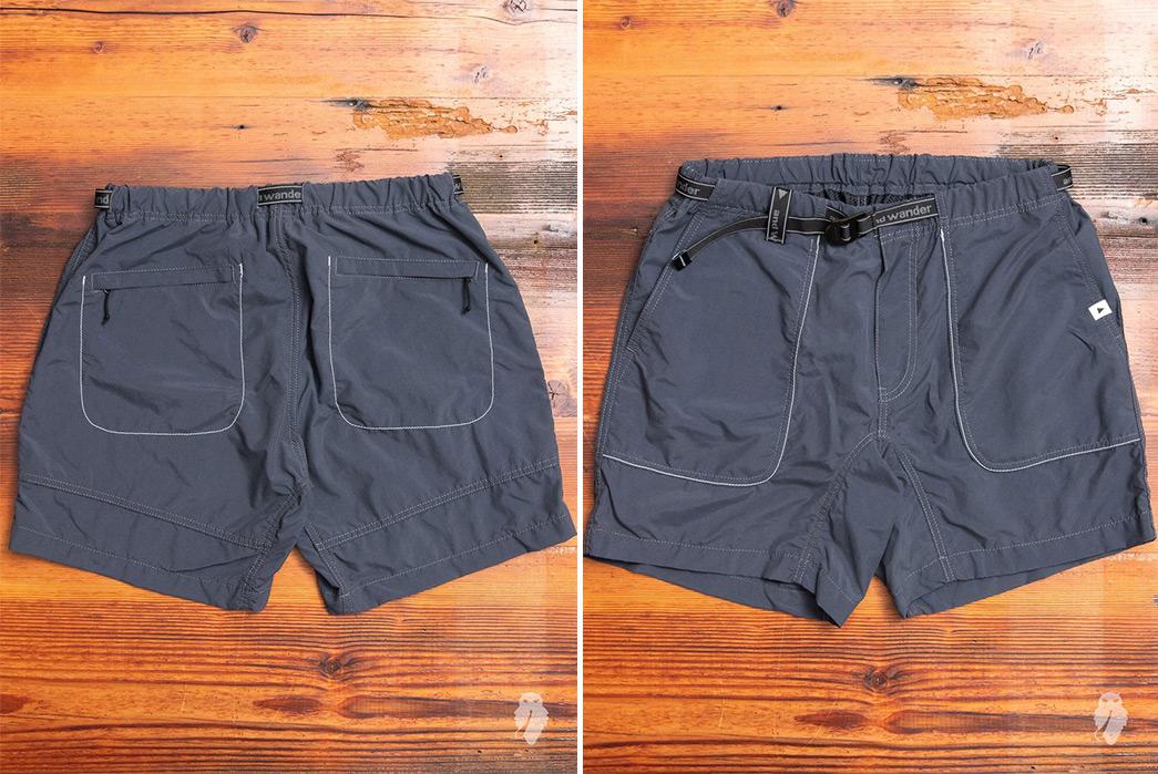 And-Wander-Climbing-Shorts-grey-front-back