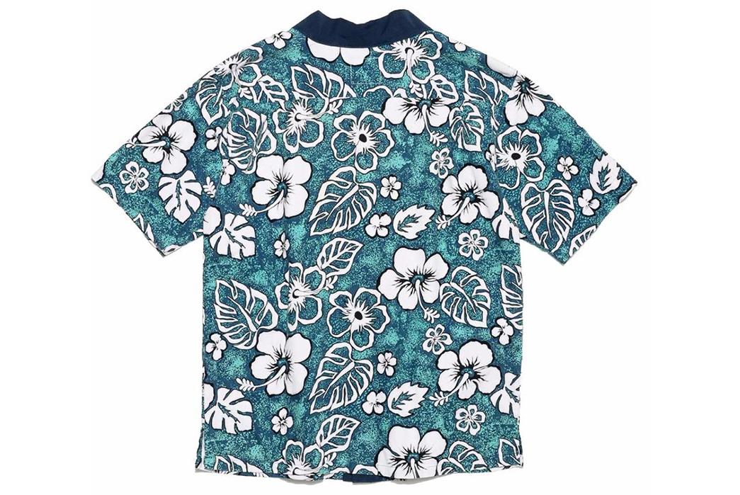 Atelier-&-Repairs-Celebrates-Golden-Week-with-a-Hawaiian-Shir-Noragi-Hybrid-blue-white-back