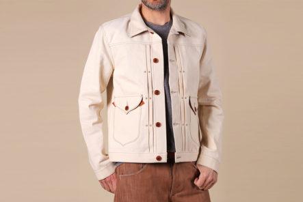 Companion's-Nevada-Jacket-is-14oz.-of-Deadstock-White-Hot-White-Oak-Denim-model-front
