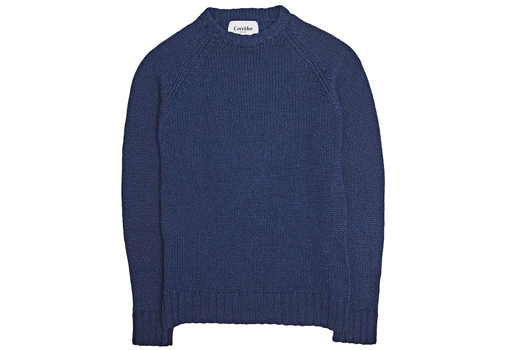 Corridor-Cotton-Crewneck-Sweaters-blue-front
