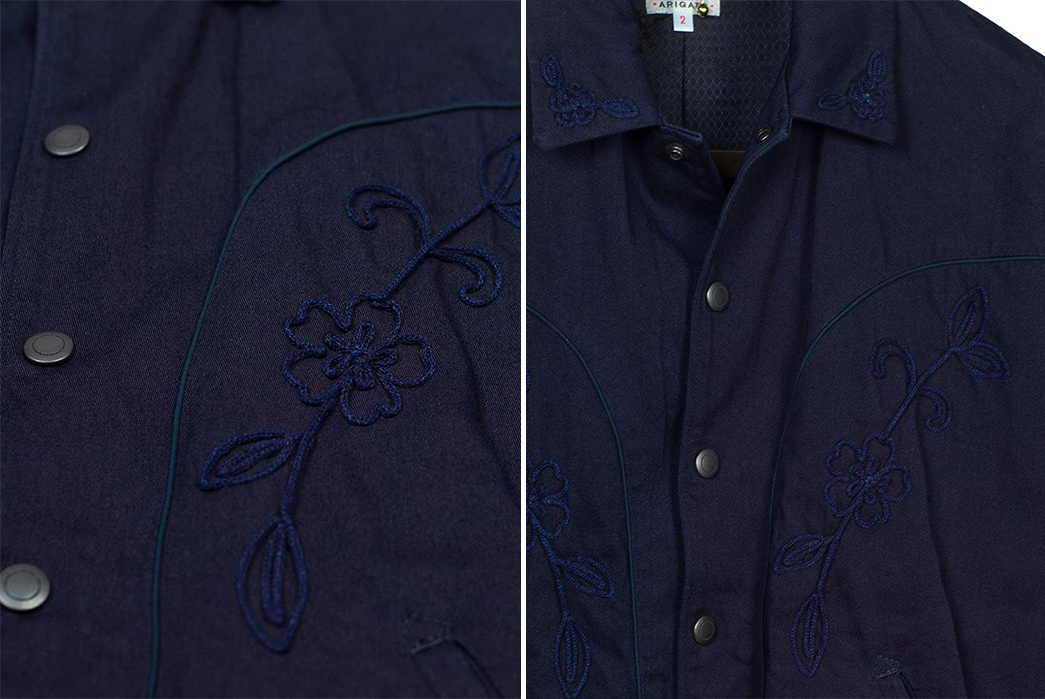 East-Meets-West-with-Blue-Blue-Japan's-Sakura-Strewn-Western-Jacket-front-detailed