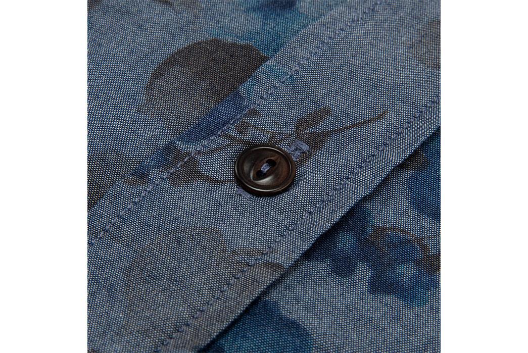 Eat-Dust's-Combat-Shirt-Features-Fading-Indigo-Flowers-button