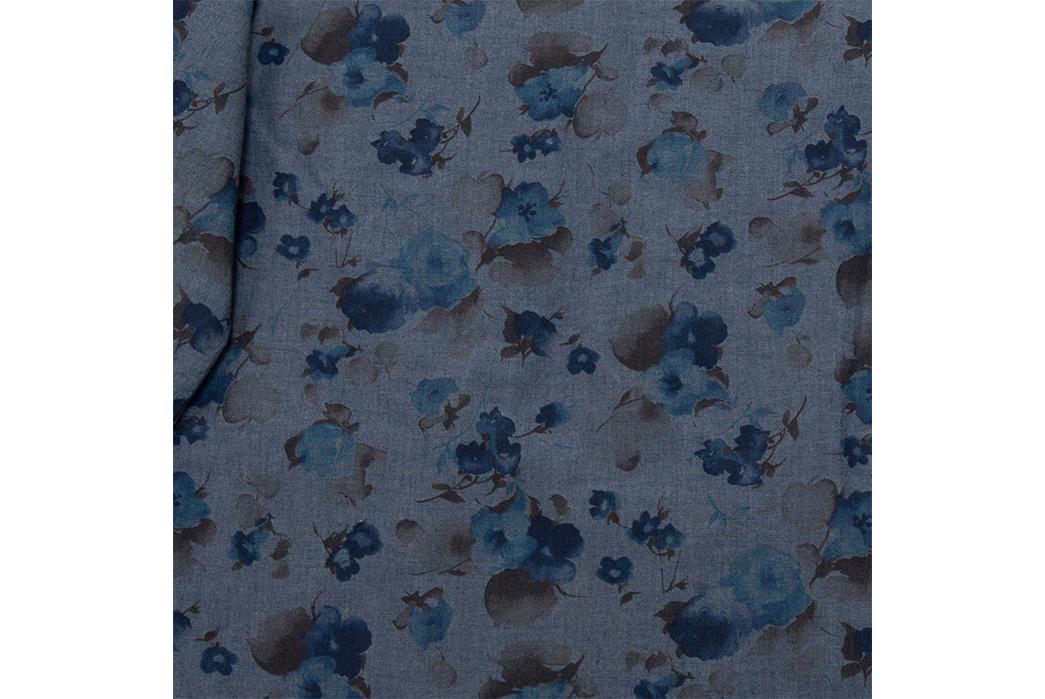 Eat-Dust's-Combat-Shirt-Features-Fading-Indigo-Flowers-detailed