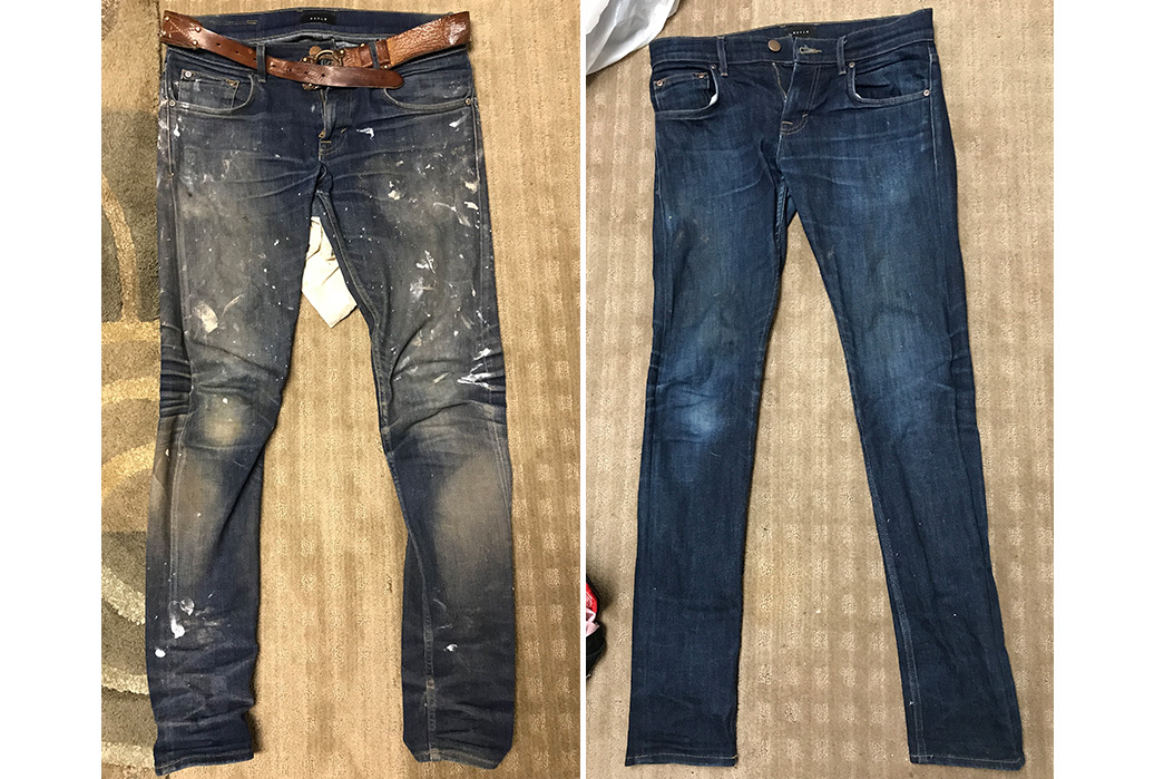 Fade-Friday---DSTLD-24-Dip-Indigo-Timber-(1.5-Years,-Unknown-Washes-&-Soaks)-fronts-faded-and-new
