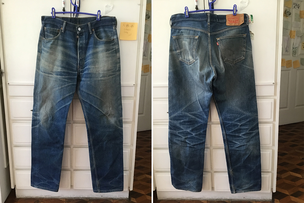 Fade-of-the-Day---Levi's-501-STF-(3.5-Years,-2-Washes,-3-Soaks)-front-back