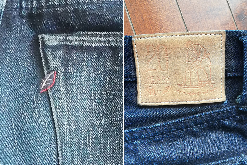Fade-of-the-Day---OD+PBJ-20th-Anniversary-(8-Months,-1-Soak)-back-brand-and-leather-patch