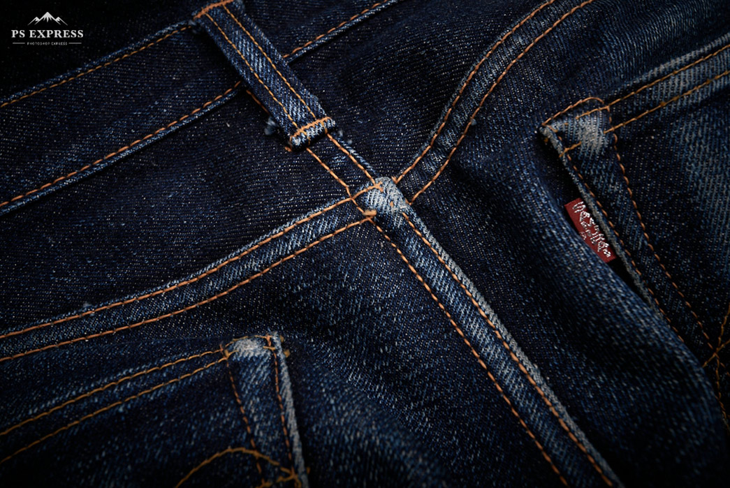 Fade-of-the-Day---Samurai-Jeans-S711VX-17-oz.-(11-Months,-1-Wash,-1-Soak)-back-top-detailed