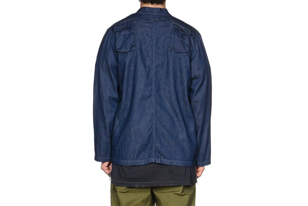 Kapital-Preps-Their-Denim-Kimono-for-Fishing-back-model