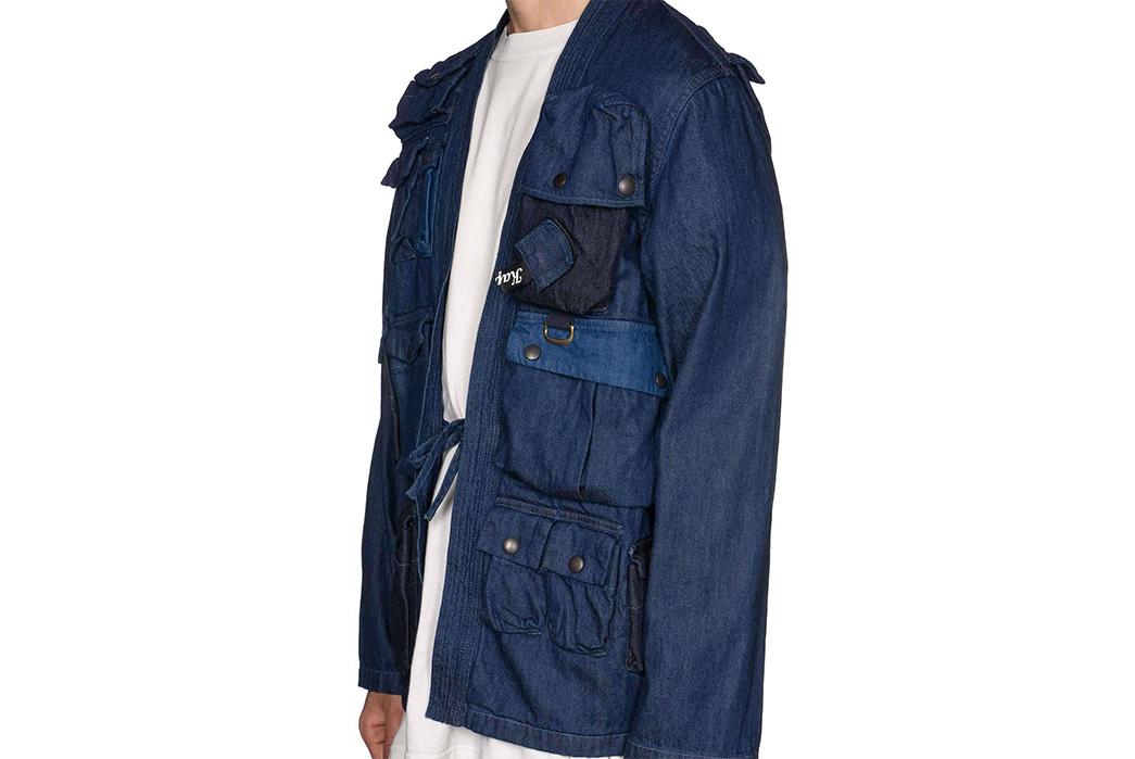 Kapital-Preps-Their-Denim-Kimono-for-Fishing-side-model