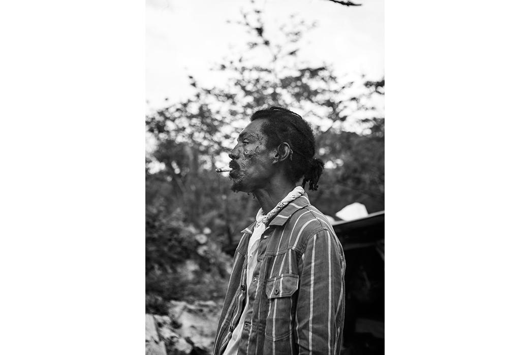 Kapital's-Yardie-Blues-Lookbook-Meanders-Through-Jamaica-and-Misadventure-bw-male-smoking