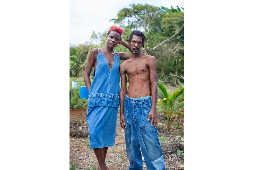 Kapital's-Yardie-Blues-Lookbook-Meanders-Through-Jamaica-and-Misadventure-female-and-male-in-blue