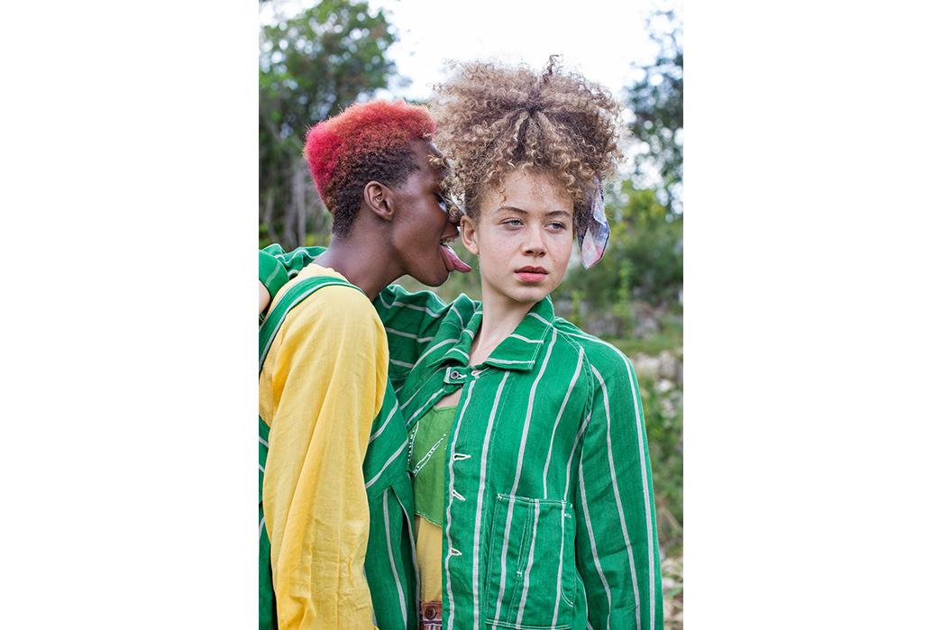 Kapital's-Yardie-Blues-Lookbook-Meanders-Through-Jamaica-and-Misadventure-female-in-yellow-and-green