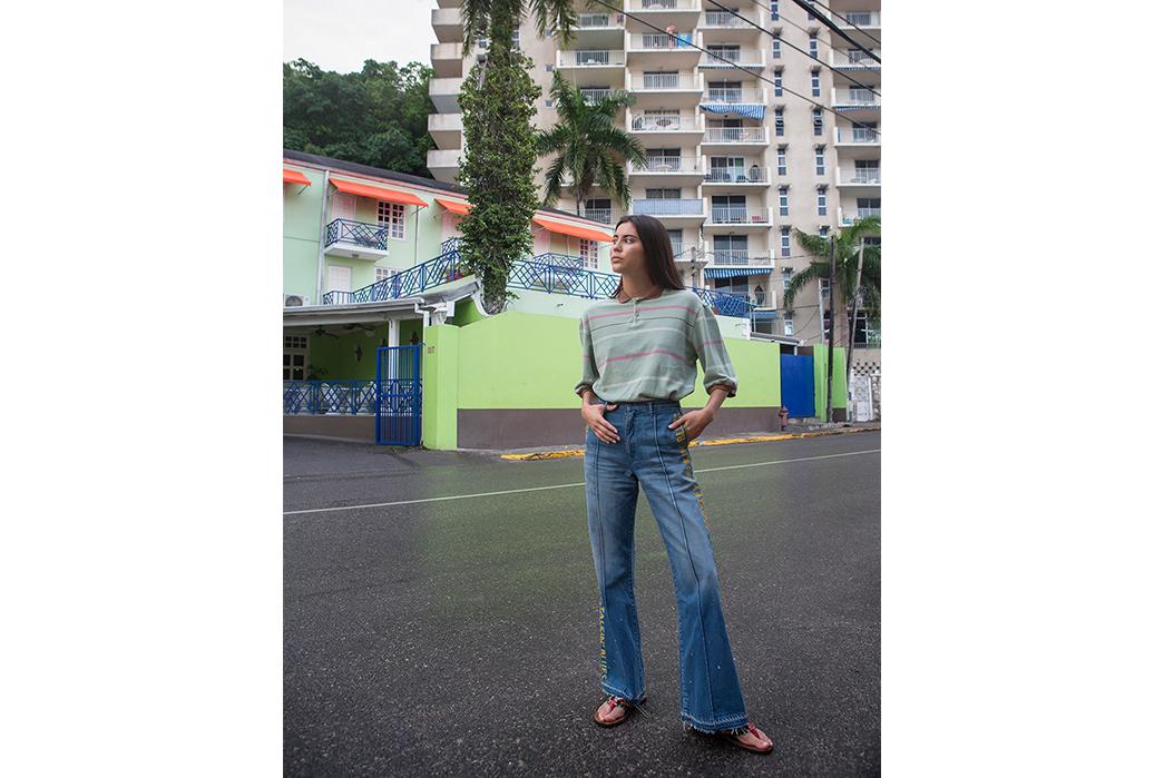 Kapital's-Yardie-Blues-Lookbook-Meanders-Through-Jamaica-and-Misadventure-female-on-asphalt