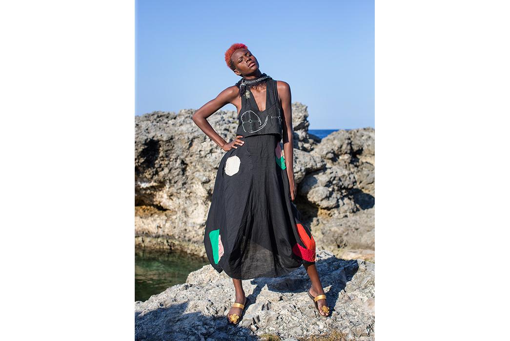 Kapital's-Yardie-Blues-Lookbook-Meanders-Through-Jamaica-and-Misadventure-female-on-beach