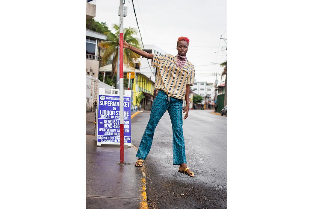 Kapital's-Yardie-Blues-Lookbook-Meanders-Through-Jamaica-and-Misadventure-female-on-street